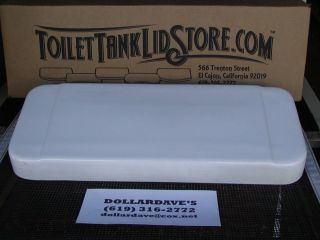 White Toilet Tank Lid Very RARE Model for Wall Mounted Toilets
