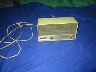 Vintage Heathkit Am FM Radio Avocado Green GR 48
