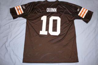 Cleveland Browns #10 Brady Quinn NFL Football Jersey Brown Adult 2X