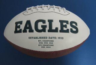 Brian Westbrook Auto Signed Eagles Logo Football JSA