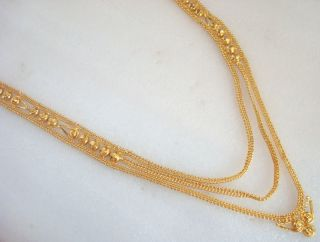 Attractive Traditional Indian Wedding Bridal Gold Plated Long Chain