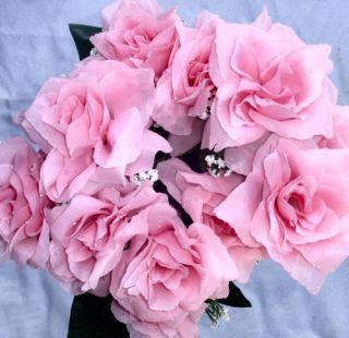Rose Petal Pink Soft Silk Wedding Flowers Bouquets Centerpieces
