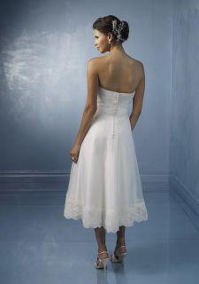 Beads Button Beach Bride Wedding Dresses Prom Evening Gowns