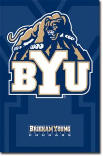 Brigham Young University Cougars Logo NCAA Poster