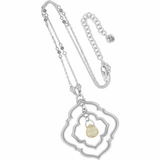PC Set Brighton Jewelry $84 Toledo Necklace Earrings Silver Gold