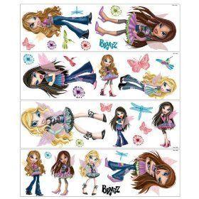 Bratz Fashion Pixiez Doll 32 Big Wall Stickers Decor