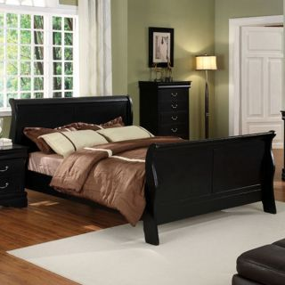 Solid Wood Braxton Espresso Finish Bed Frame Set