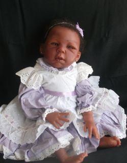 Reborn Baby Doll Brea By Lorna Miller Sands AA reborn Ethnic Reborn