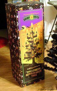 Radko Halloween Spooky Black Tree Shiny Brite for Bubble Lights Boxed