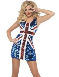 Sexy English UK British Flag Union Jack Dress Costume