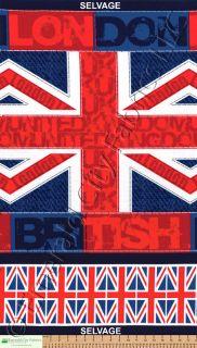 Timeless Treasures British Flag Large Panel UK Union Jack London