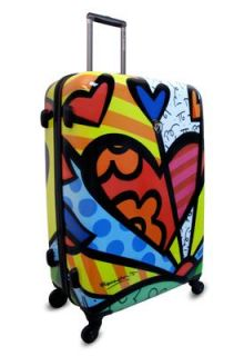 New Romero Britto by Heys 4 Wheeled 30 Spinner Large Travel Luggage
