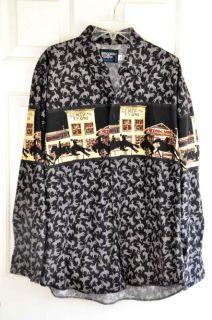 Brooks Dunn Shirt Long Sleeve Bucking Broncos Cotton XL