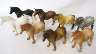 Breyer Models Stablemates 8 Draft Horses Lot