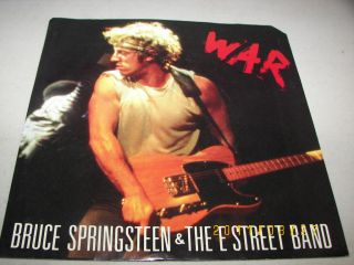 Bruce Springsteen The E Street Band War Merry Christmas Baby 45 w PS