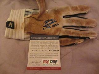 Brett Gardner Signed Game Used Baseball Batting Glove PSA DNA ITP
