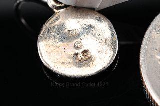 Lee Brevard 18K White Gold 750 Round Flower Earring Single Charm lb