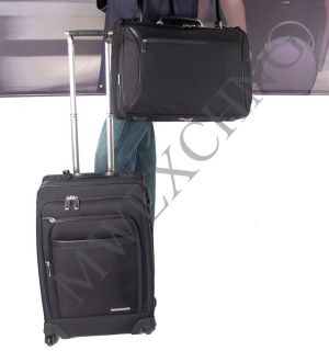 Brics Pininfarina Spinner Suitcase Garment Bag Set