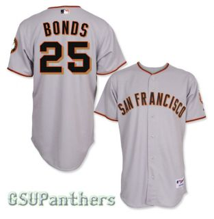 Barry Bonds San Francisco Giants Authentic Grey Road Jersey Sz 40 52