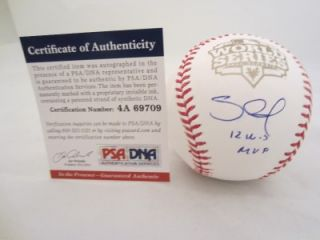 Pablo Sandoval Signed World Series 12 WS MVP Baseball Giants PSA DNA