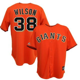 Brian Wilson San Francisco Giants Alternate Orange Jersey Mens Sz M