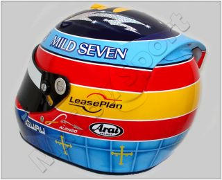 Fernando Alonso 2004 F1 Replica Helmet Full Scale 1 1