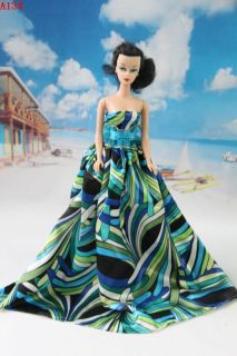 fashion Handmade Wedding Clothes party Dresses Gown Outfit for Barbie