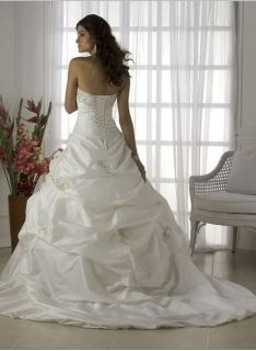 New White Wedding Dress Bridal Gown Stock Size 14