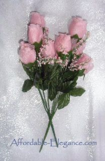 Roses Pink Silk Wedding Flowers Bouquets Centerpieces Bridal