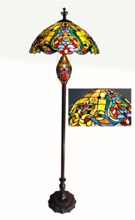 Victorian Tiffany NEW Style Double Light Night Light Stained Glass