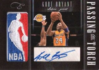 KOBE BRYANT/IGUODALA 2011/12 ELITE BLACK BOX DUAL NBA LOGO PATCH AUTO