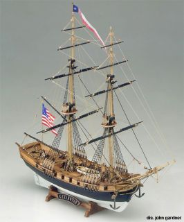 Mamoli Lexington Armed Brigantine Wood SHIP Model Kit New Boat