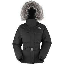 North Face Atlantic 550 Down Black Jacket Coat Women Sz