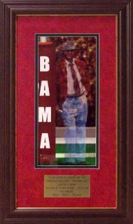 Alabama Football Bear Bryant Goal Post Framed Print