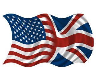American British Wavy Flag Decal USA Britain Union Jack Vinyl Sticker