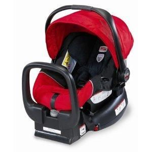 Britax Chaperone Baby Infant Carrier Car Seat Red