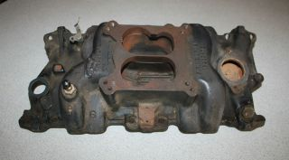 Brzezinski SBC Bowtie Marine Cast Iron Intake Dirt Late Model Imca