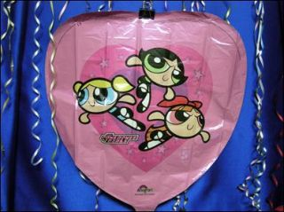 Powerpuff Girls Heart Balloon Buttercup Blossom Bubbles Mylar Balloon