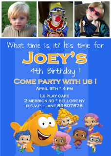 Bubble Guppies Birthday Party Invitation You Print