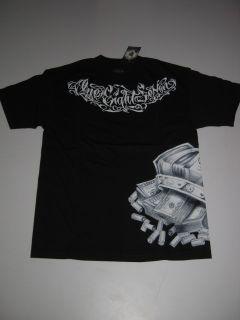 Crown Skull Bullets 187 Inc Shirt Tee Black Tshirt SS Short Sleeve M