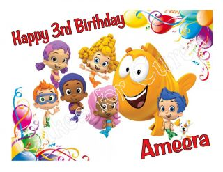 Bubble Guppies Edible Cake Image Cake Topper Decoration