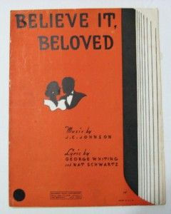 Sheet Music Believe It Beloved 1934 Broadway Music Corp