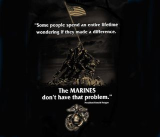 US Marine Corps Ronald Reagan Quote T shirt USMC Iwo Jima Memorial