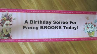 Nancy Girls Birthday Party Personalized Banner for Brooke A Party Must