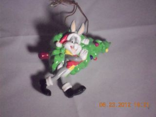 Bugs Bunny Carrying Christmas Tree Looney Tunes Collectible Ornament