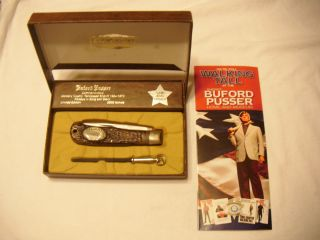Buford Pusser Knife Camillus Knife With Paperwork