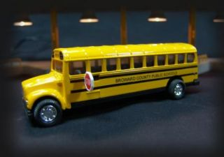 Die Cast Metal Custom School Bus Broward County Public Schools