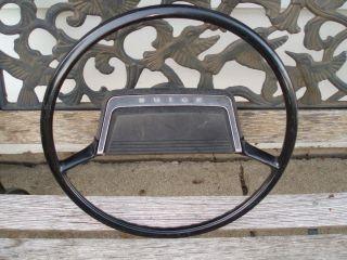 68 69 Buick Skylark Black Steering Wheel and Horn Assembly No Cracks