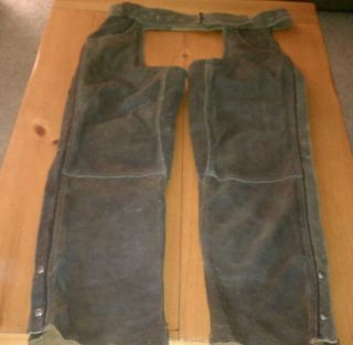 HARLEY DAVIDSON DISTRESSED BROWN LEATHER BILLINGS CHAPS MEDIUM