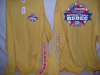 2006 NFR Red long sleeve Rodeo T shirt PBR PRCA Choice of Sizes NEW